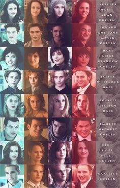 Evolution of the Cullens<3