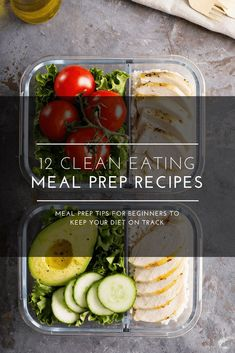 If youre trying to meal prep for the week youll love these healthy clean eating recipes and tips that are great for beginners! Whether youre looking to lose weight or find vegetarian low-carb and paleo meal prep recipes youll find easy budget-frien Clean Eating Recipes For Weight Loss, Clean Eating Recipes For Dinner, Clean Eating Snacks, Recipes Dinner, Eating Habits, Healthy Foods To Eat, Healthy Snacks, Healthy Eating, Clean Foods