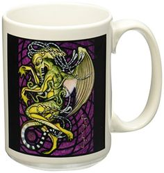 3dRose mug_156833_2 Dread Cthulhu Lovecraft Mythos Elder God Horror Art Ceramic Mug 15Ounce ** Read more reviews of the product by visiting the link on the image.