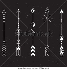 Set of vector minimalism/geometry/hipster arrows/design elements