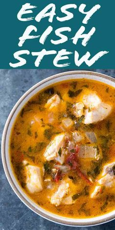 4 Points About Vintage And Standard Elizabethan Cooking Recipes! Quick Easy Absolutely Delicious Fish Stew Fresh Fish Filets Cooked In A Stew With Onions, Garlic, Parsley, Tomato, Clam Juice And White Wine. Takes Less Than 30 Minutes To Make Seafood Recipes, Soup Recipes, Cooking Recipes, Healthy Recipes, Salmon Recipes, Fresh Fish Recipes, Catfish Recipes, Cooking Videos, Recipes