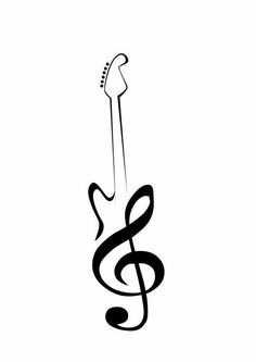 Music Tattoo Ideas For Girls Tatoo Trendy Ideas Trendy Tattoos, Fake Tattoos, New Tattoos, Body Art Tattoos, Cool Tattoos, Tatoos, Simple Tattoos For Guys, Tattoo Simple, Guitar Tattoo Design