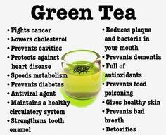 Health Benefits of Drinking Tea.  Several charts on benefits of several kinds of varieties of teas.