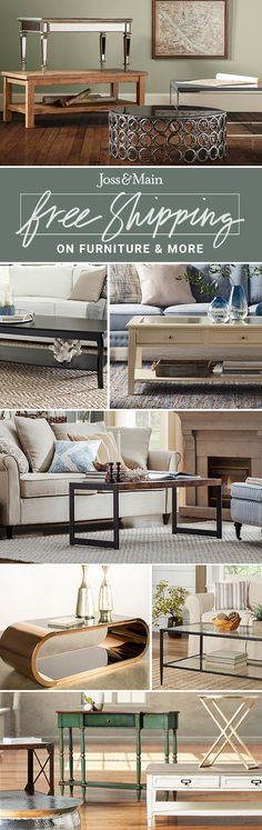 Coffee tables at jossandmain.com! Sign up to find out more about FREE SHIPPING on all orders over $49!