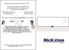 Nickpontocom/Convite de Casamento
