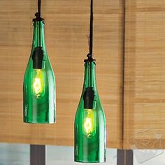 Wine Bottle Pendant Light at Wine Enthusiast - $99.95