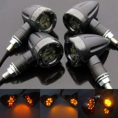Enthusiastic 4x Universalamber Chrome Bullet Front Rear Turn Signal Blinker Indicator Light Motorcycle For All Honda Models Motorcycle #20 Car Lights