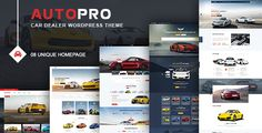 AutoPro - Car Dealer WordPress Theme by jwsthemes AutoPro is a premium quality WordPress theme dedicated to cars and vehicles of all kinds. It is a great option for dealerships, ag