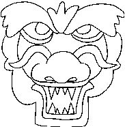 deep sea monster mask printout. --> more fun activities and ... - Chinese Dragon Mask Coloring Pages