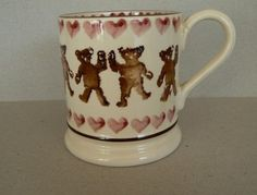 Emma Bridgewater Teddy Bear Pink 0.5 Pint Mug