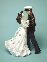 Cake Topper - Military Weddings   Keywords: #militaryweddings #jevelweddingplanning Follow Us: www.jevelweddingplanning.com  www.facebook.com/jevelweddingplanning/