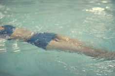 The Blue Suit Woman in a Pool by lucysnowephotography on Etsy