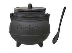Black Cauldron Ceramic Soup Mug with Spoon