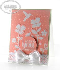 Wildflower Meadow card by Beth B at My little craft blog: I Miss You Already