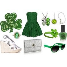 st patricks day outfit :), created by jasminestarr on Polyvore