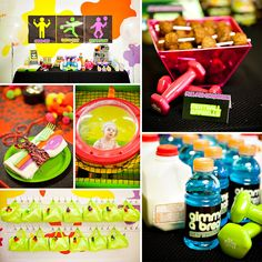 "Attention fitness gurus and 80′s lovers: Laura Ritchie of Events In The City designed a stellar 80′s + Neon Inspired ""Work it Out"" Theme Birthday Party that is a MUST see! #80s #workout #kidsparty http://hwtm.me/13Xy84I"