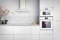 Une crédence en marbre pour habiller la cuisine