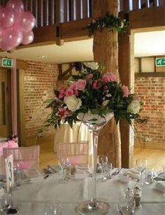 Reception Wedding Flowers   Table Decorations