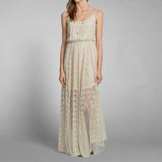 Abercrombie maxi wedding dress