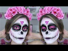 Maquillaje de Catrina Fácil para Principiantes   HALLOWEEN   NatyGloss - YouTube