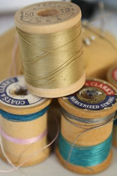 old thread spool collecting