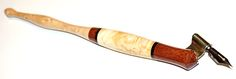 The pen with bubinga grip area, maple burl center, wenge rings and birdseye maple tail end is now an oblique Birdseye Maple, Maple Burl, Calligraphy Pens, Pencil, Rings, Art, Calligraphy Fountain Pens, Art Background, Ring