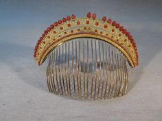 Ancien Superbe Peigne Diademe Bronze Dore Corail Epoque Empire   eBay