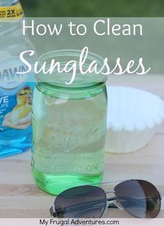 How to Clean Sunglasses - so easy! Just 10 seconds to get them sparkly clean!
