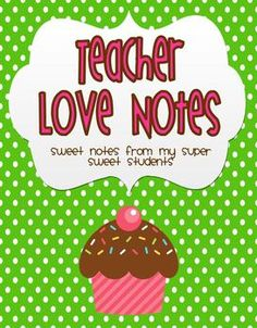 Teacher Love Notes Binder Covers {FREE}