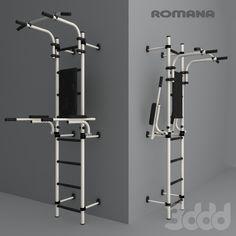 3d модели: Спорт - Домашний спортивный комплекс (пристеный)