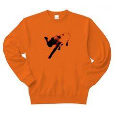 DOKONJYOUシャム夫Art トレーナー(オレンジ):ちょっとアートなシャム猫シャム夫さんです。 by ち畳工房:ちょっと笑えるパロディと猫がモチーフの商品です