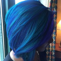 Love this electric blue hair color @jasblack  #voiceofhair #detroithair…