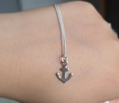 Anchor Charm, Bridesmaid Accessories, Resin Pendant, Sterling Silver Necklaces, Jewelry Collection, Swarovski Crystals, Arrow Necklace, Pendants, Charmed