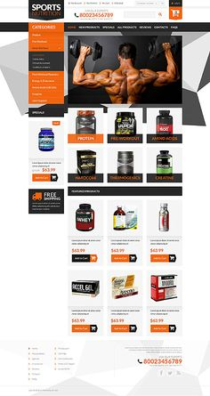 Sports Nutrition Online Store #ZenCart #template. #themes #business #ecommerce #webtemplates