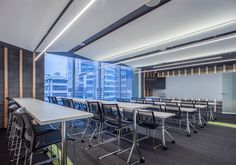 Explore the Deloitte Centro de Excelencia in Mexico City designed by Serrano Monjaraz Arquitectos that features Techstyle® White ceiling systems. #FluentInDesign