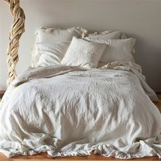 I want all the rooms in my home completely dressed in linen by Belle Notte Linens!!!  Love their linens!
