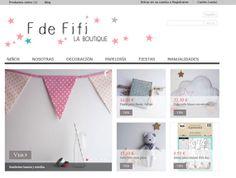 Nueva tienda online www.fdefifi.com productos handmade para niños, artículos de decoración y manualidades