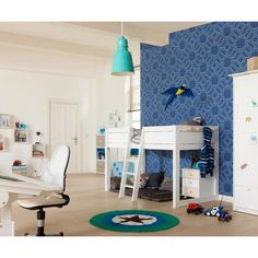 Lifetime Stars 4 in 1 Combination Bed Single Wardrobe, Corner Wardrobe, 4 Door Wardrobe, Double Wardrobe, Modular Storage, Storage Spaces, One Bedroom, Girls Bedroom, White Loft Bed