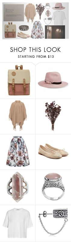 """Pink cafe walk (Hikari Ai)"" by hikari-ai on Polyvore featuring мода, Eugenia Kim, WithChic, Repetto, Tribe, NOVICA, T By Alexander Wang, Bling Jewelry и G by Guess"