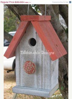 30% OFF TODAY Reclaimed Barnwood Birdhouse,Nautical Birdhouse,Beach Birdhouse,Distressed Rustic Birdhouse, Primitive Birdhouse,