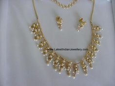 Light weight Trendy Pearl Necklace | Latest Indian Jewellery Designs