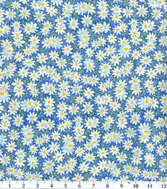 Keepsake Calico Fabric-Packed Daisy BlueKeepsake Calico Fabric-Packed Daisy Blue,