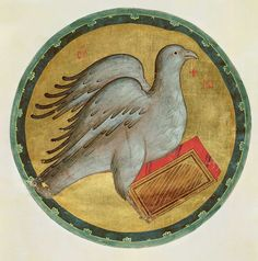 The Eagle of St. John the Evangelist - Andrei Rublev Byzantine Art, Byzantine Icons, Religious Icons, Religious Art, Andrei Rublev, Arte Latina, St John The Evangelist, Russian Icons, Art Database