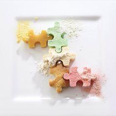 Puzzle: Orange Jelly / Kiwi Mousse / Vanilla Semi-Fredo / Lemon Cake / Strawberry Panna Cotta. ✅ By - @pauldepierre ✅  #ChefsOfInstagram