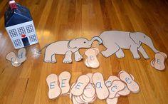 several Ee elephant activities for preschool