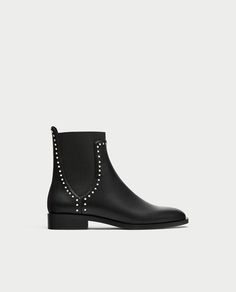ZARA - WOMAN - FLAT ANKLE BOOTS WITH STUDS