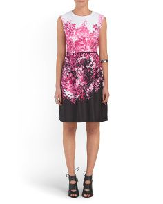 image of Printed Fit And Flare Dress