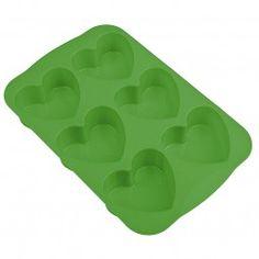 #Muffin-Backform Herz grün #heart #green #baking #backen #bækka
