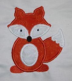 Fox Applique Machine Embroidery Design. $3.00, via Etsy.