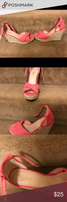 Candies brand wedges Work 2x. Great condition. candies Shoes Wedges